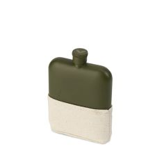 Matte Army Green Flask by Foster & Rye
