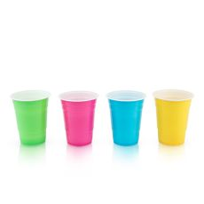True Party: Plastic 16 oz Graphic Color Cups - Set of 24