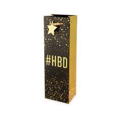 #HBD Single-Bottle Wine Bag by Cakewalk