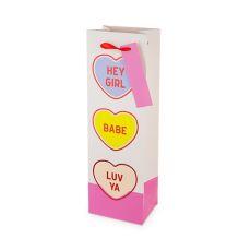 Conversation Hearts Single-Bottle Wine Bag by Cakewalk