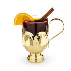 Mulled Red Wine Glass, Gold Plated