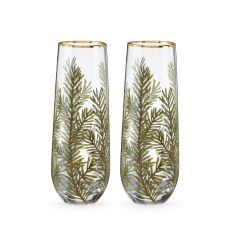 Woodland Stemless Champagne Flute Set by Twine