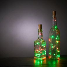 Green and Red Bottle String Lights - Set of 2