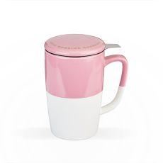 Delia Pink Tea Mug & Infuser by Pinky Up