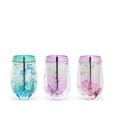 Assorted Mermaid Glitter Stemless Wine Tumblers by Blush