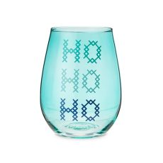 HO HO HO Stemless Wine Glass by Blush