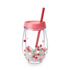 Retro Pom Stemless Wine Tumbler by Blush