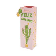 Christmas Cactus Single-bottle Wine Bag by Cakewalk