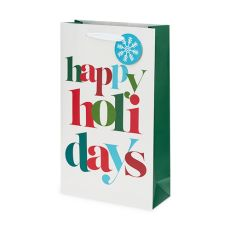 Happy Holidays Double-Bottle Wine Bag by Cakewalk