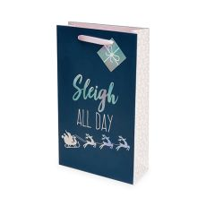 Sleigh All Day Double-Bottle Wine Bag by Cakewalk