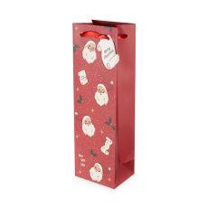 Santa's List Single-Bottle Wine Bag by Cakewalk