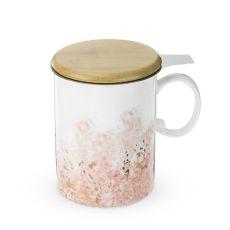 Bennett Pink Ceramic Tea Mug & Infuser by Pinky Up