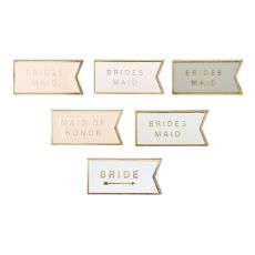 Bridal Party Wine Charm Set by Twine