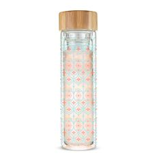 Blair Arabesque Glass Travel Infuser Mug by Pinky Up