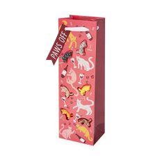 Cat Lady Charm Single-Bottle Wine Bag by Cakewalk