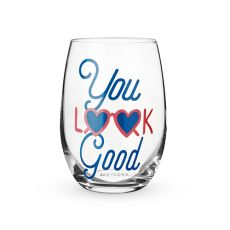 You Look Good Stemless Wine Glass by Blush