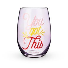 You Got This Stemless Wine Glass by Blush