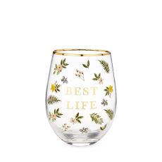 Best Life Stemless Wine Glass by Twine