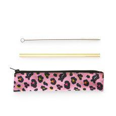 Electric Animal Glass Straw Set by Blush