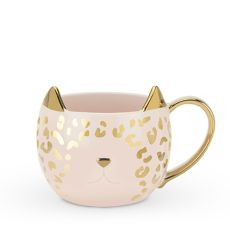 Chloe Pink Leopard Cat Mug by Pinky Up