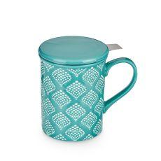 Annette Bali Turquoise Ceramic Tea Mug & Infuser by Pinky U