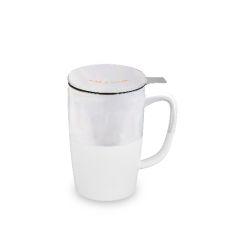 Delia Rise & Shine Tea Mug & Infuser Pinky Up