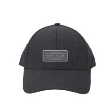 Heather Linen Charcoal, Napa Happy Place Cap
