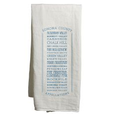 Sonoma White Tea Towel Appellations
