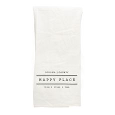 Sonoma White Tea Towel Happy Place