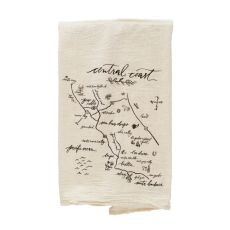 Central Coast Natural Tea Towel Valley Map