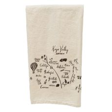 Napa Natural Tea Towel Valley Map