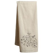 Sonoma Natural Tea Towel Valley Map