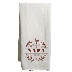 Napa White Tea Towel Vintage