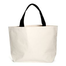 Heavyweight Canvas Tote Natural w/ Black Handles