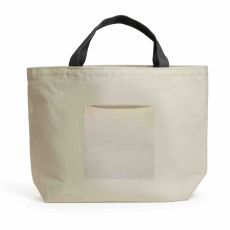 BLANK Lined Pocket Tote Natural w/ Charcoal Handle