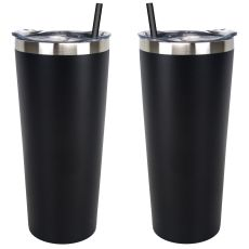 Black Stainless Steel Tumbler, 20 oz.