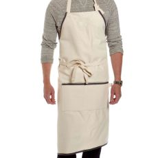 Natural Apron with Charcoal Trim