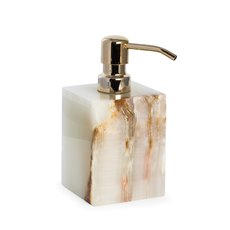 Marble Bath Soap Dispenser in Green Onyx