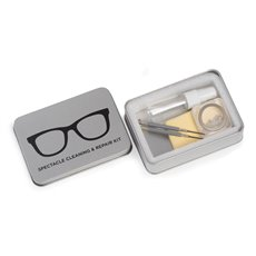 Eye Glass Cleaning and Repair Kit in Metal Case,