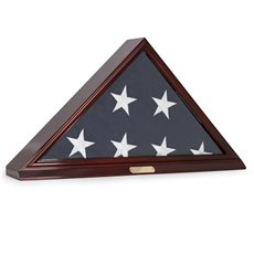 Flag Display Case for Memorial 5'x95 Flag, Wall Mountable