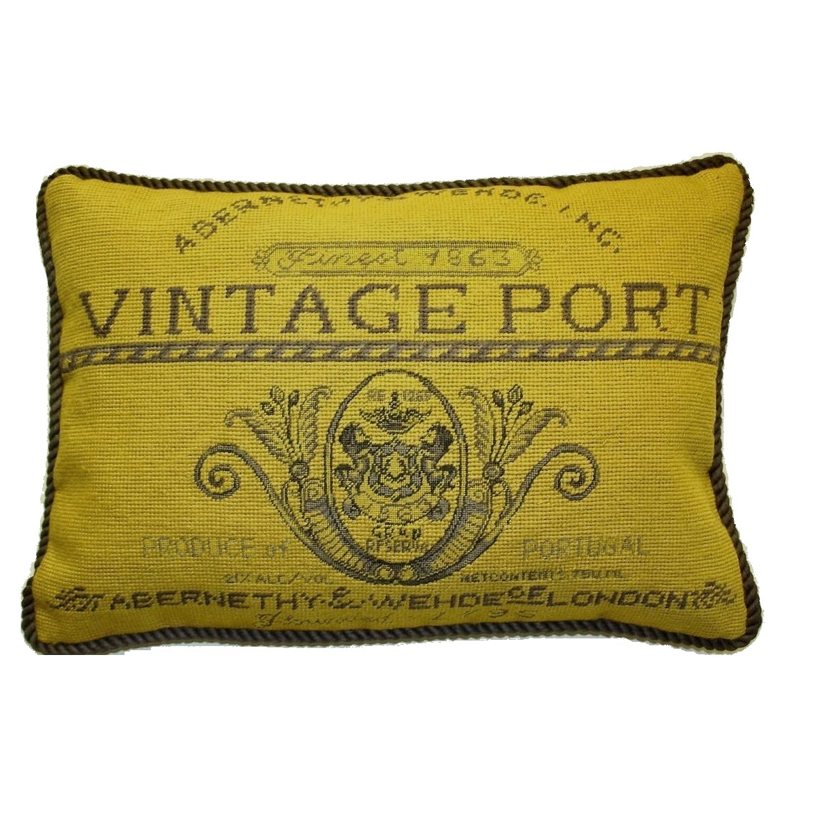 Abernethy & Wehde label Pillow