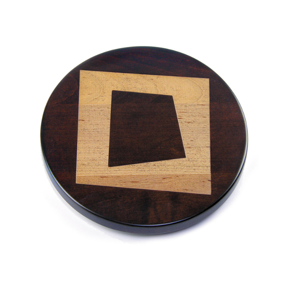 Artisan Wood Abstract Square Lazy Susan