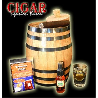 Amber Carribean Cigar Infusion Barrel