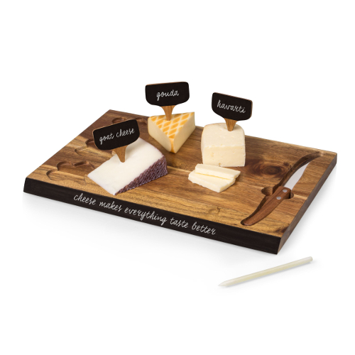 Acacia Cheese Board and Knife Set