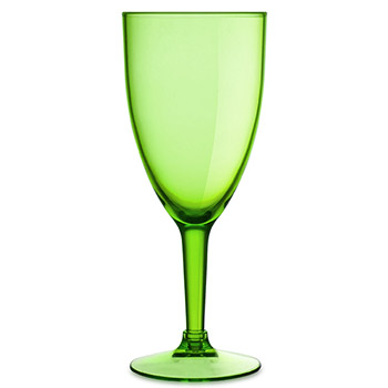 Acrylic Wine Glasses - Green