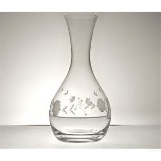 Adam's Rose Wine Carafe