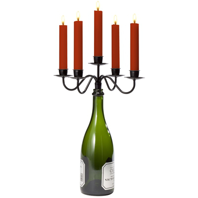Afterglow Wine Bottle Candelabra