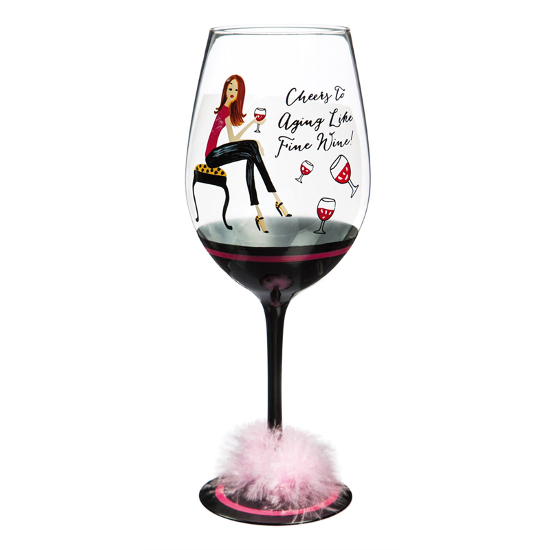 Aging Like Fine Wine XL Wine Glasses (set of 2)