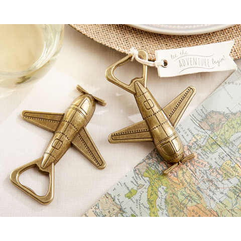 Vintage Style Airplane Bottle Opener