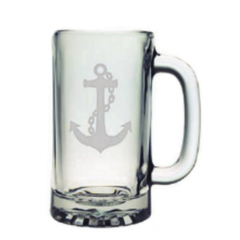 Nautical Anchor Beer Mugs (set of 4)